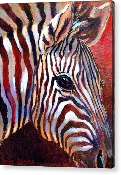 Judy Downs - Black and White and red a... Print