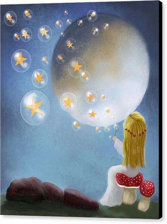 Sannel Larson - Starry Bubbles by Sannel ... Print
