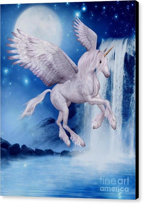 Smilin Eyes  Treasures - Flying Unicorn Print