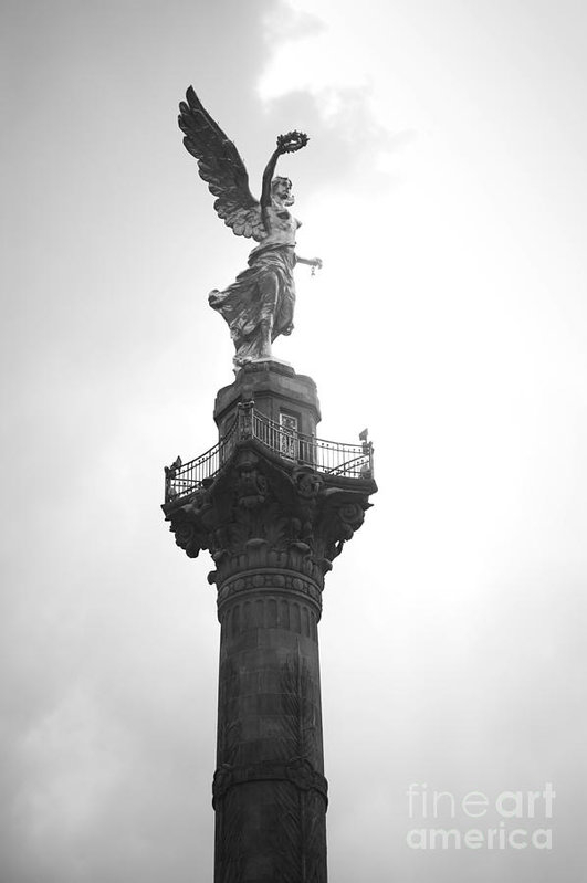 L E Jimenez - Angel of Independence BW Print