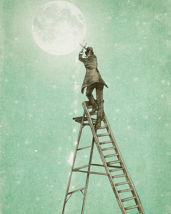 Eric Fan - Waning Moon Print
