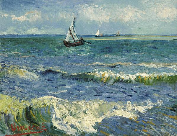 Vincent van Gogh - Seascape near Les Saintes... Print
