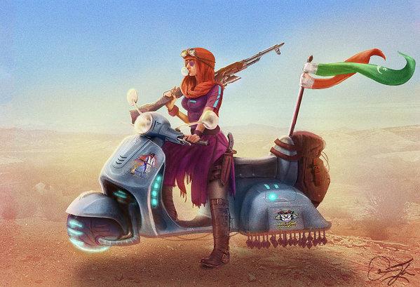 Omar Gilani - Road Warrior Print