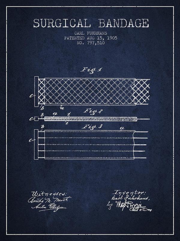 Aged Pixel - Surgical Bandage Patent f... Print