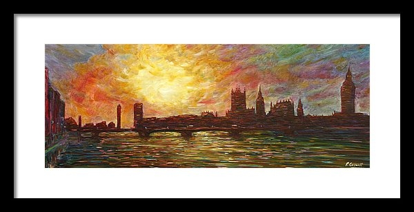 Pete Caswell - Sunset on Thames Print