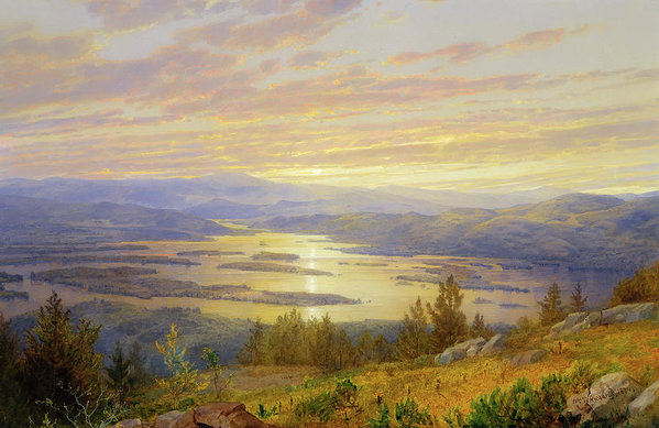 William Trost Richards - Lake Squam From Red Hill Print