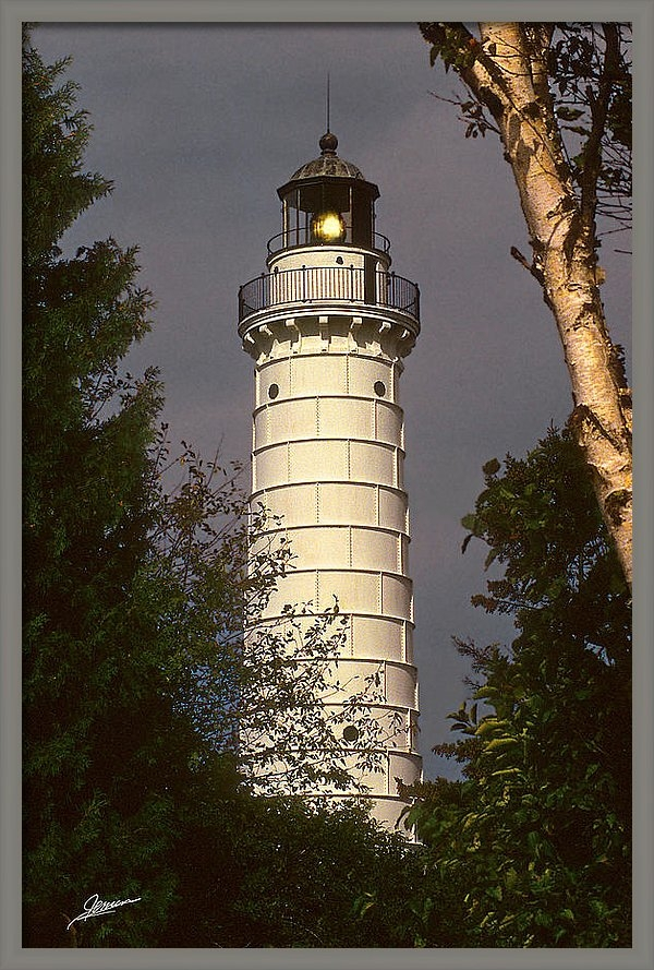 Phil Jensen - Cana Island Lighthouse Print