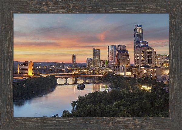 Rob Greebon - The Austin Skyline on a S... Print