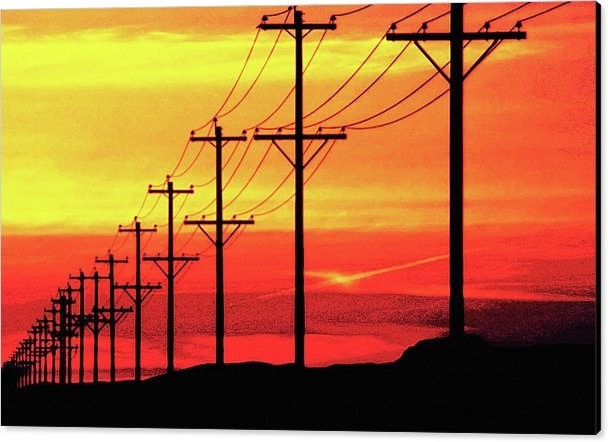 Steve Ohlsen - Power Poles and Lines int... Print