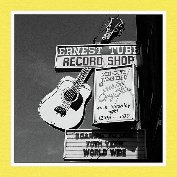 Linda Woods - Record Shop- by Linda Woo... Print