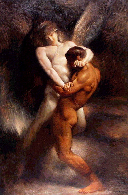 Leon Bonnat - Jacob earns his name  Print