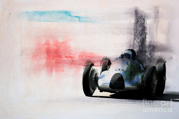 Roger Lighterness - 1938 Auto Union type D Print