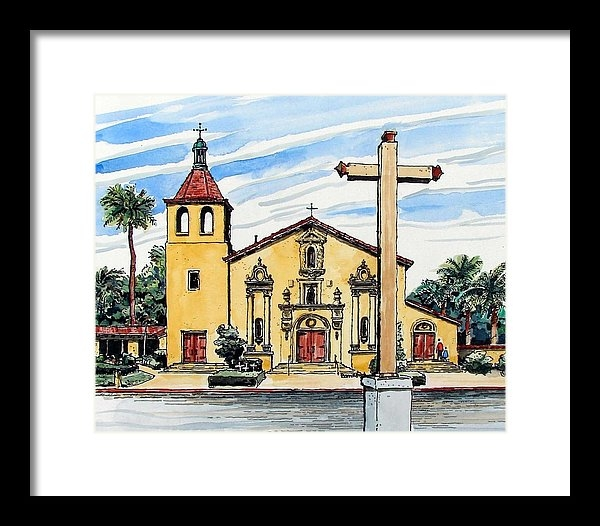 Terry Banderas - Mission Santa Clara de As... Print