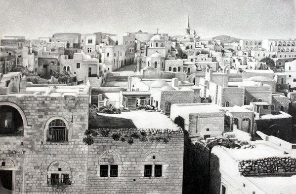 Munir Alawi - Bethlehem Old Town Print