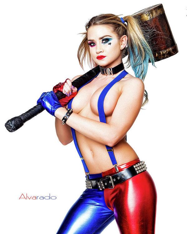 Robert Alvarado - Harley and her Hammer Print