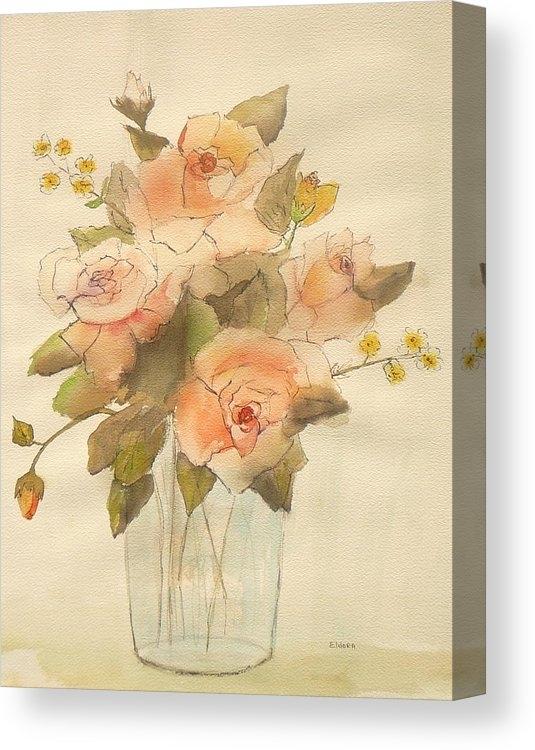 Eldora Schober Larson - Watercolor Roses Print