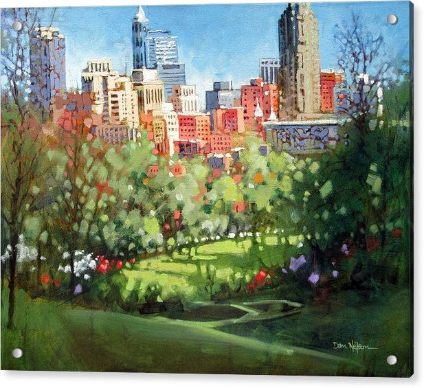 Dan Nelson - Raleigh Spring Skyline Print
