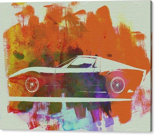 Naxart Studio - Lamborghini Miura Side 2 Print