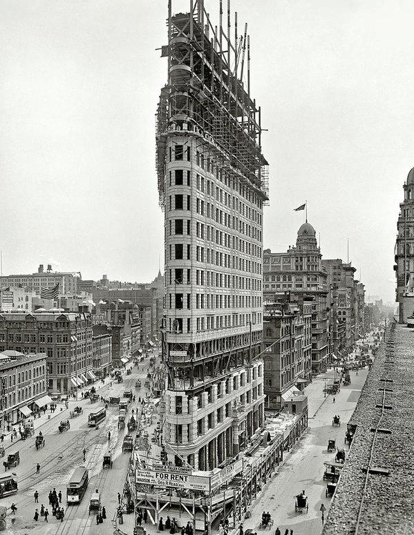 Daniel Hagerman - Flatiron Building Constru... Print