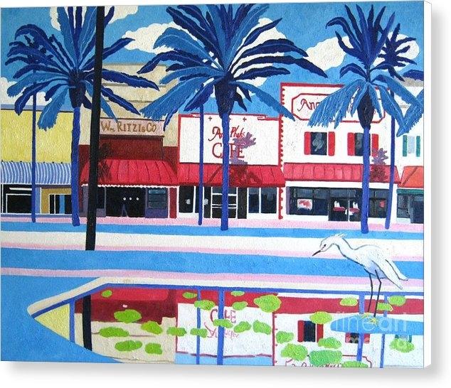Lesley Giles - Daytona Angell Phelps Flo... Print