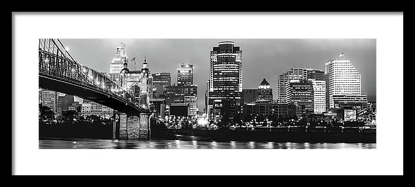 Gregory Ballos - Cincinnati Black and Whit... Print