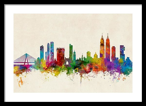 Michael Tompsett - Mumbai Skyline India Bomb... Print