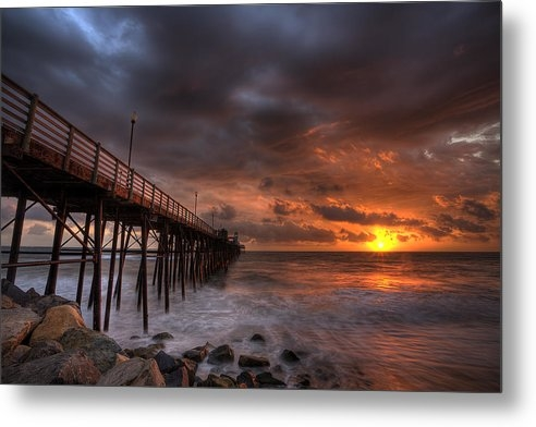 Peter Tellone - Oceanside Pier Perfect Su... Print