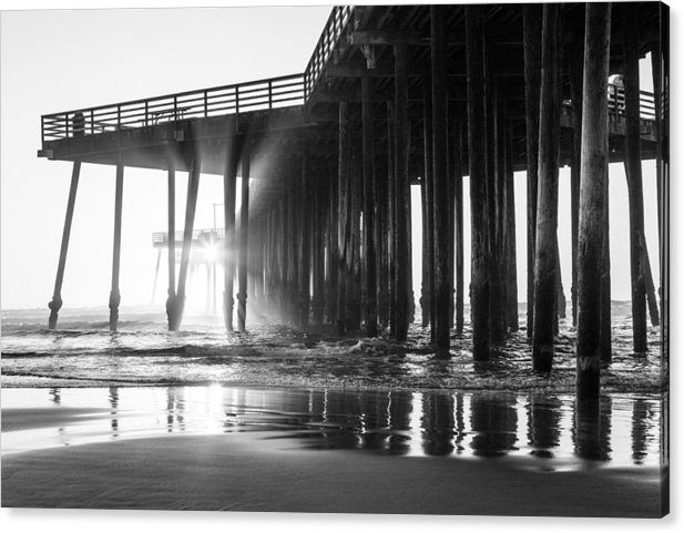 John McGraw - Pismo Pier Black and Whit... Print