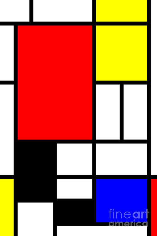 Heidi De Leeuw - Mondrian-ITY 1 Print