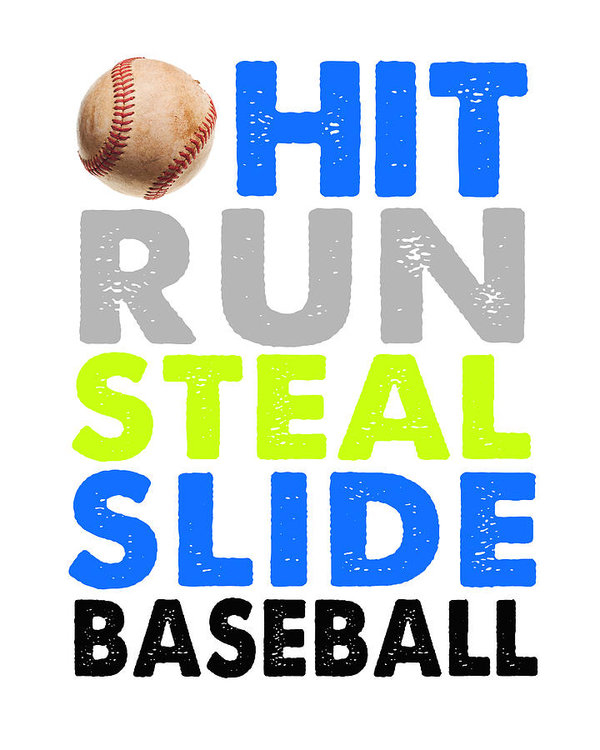 Crista Dearinger - Hit, Run, Steal, Slide, B... Print