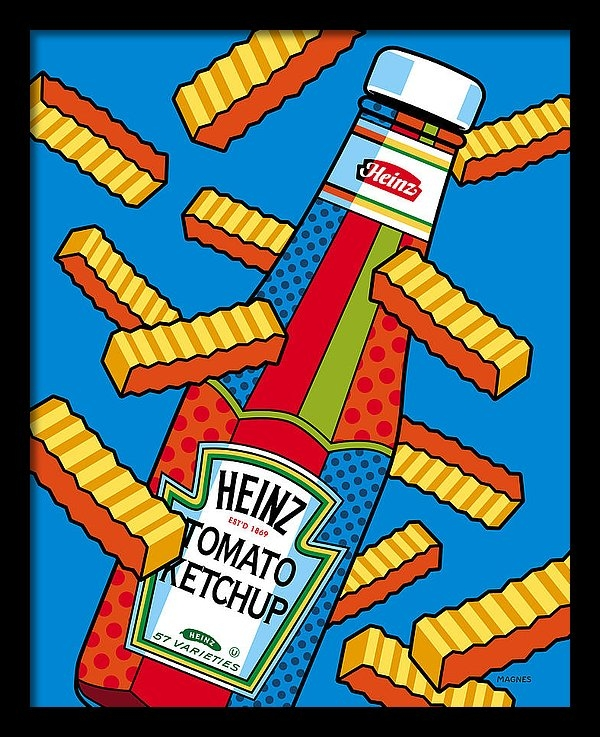 Ron Magnes - Flying Fries Print