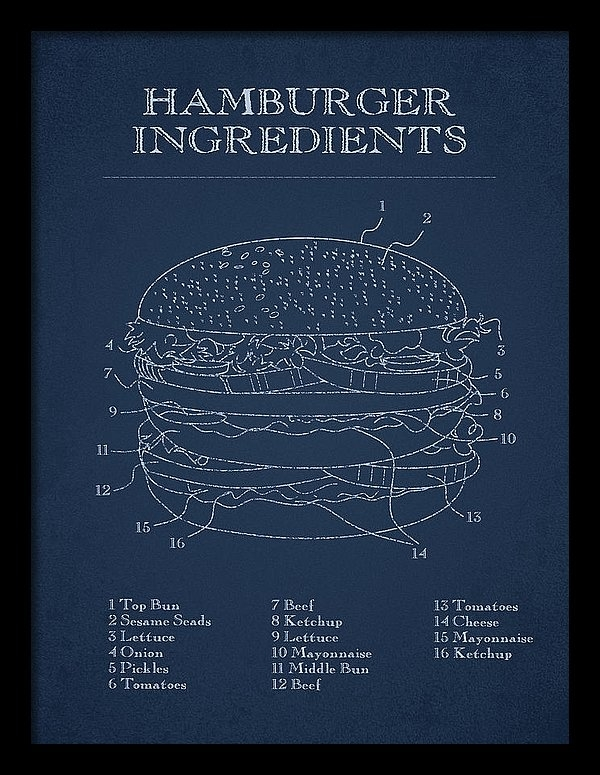 Aged Pixel - Hamburger Print