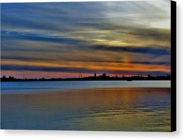 Debby Lesko - St Louis sunset Print