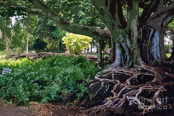 Bette Phelan - Tree with Roots Print