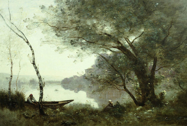 Jean-Baptiste-Camille Corot - The Boatman of Mortefonta... Print