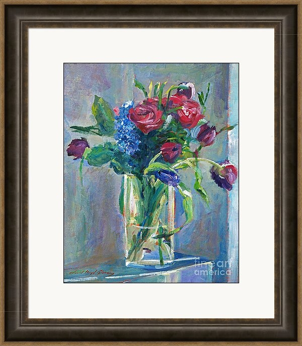 David Lloyd Glover - Glass Vase on Sill Print