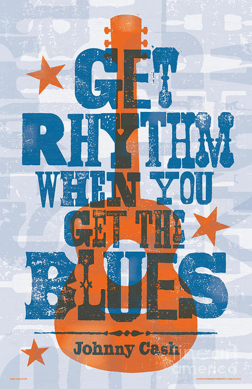 Jim Zahniser - Get Rhythm - Johnny Cash ... Print