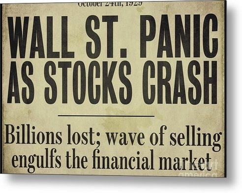 Mindy Sommers - Wall Street Crash 1929 Ne... Print
