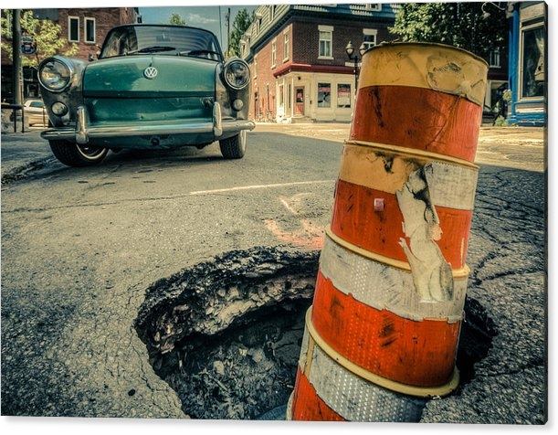 Martin New - Beware the pot holes Print