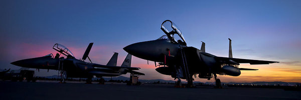 Adam Romanowicz - F-15E Strike Eagles at Du... Print