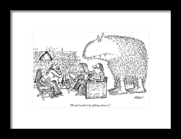 Edward Koren - We Deal With It By Talkin... Print