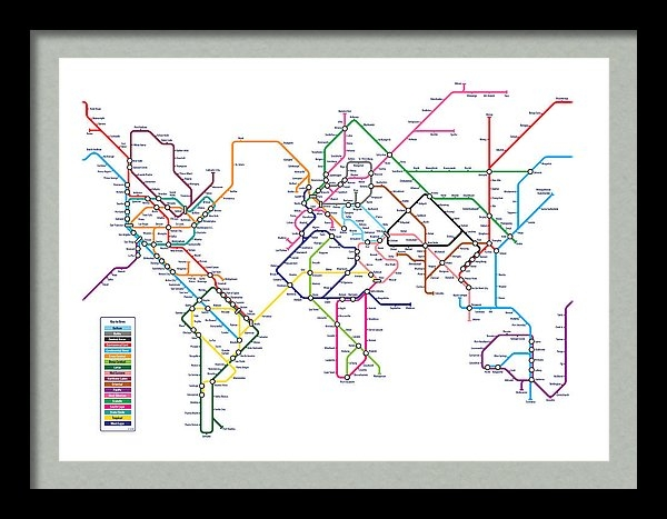 Michael Tompsett - World Metro Map Print