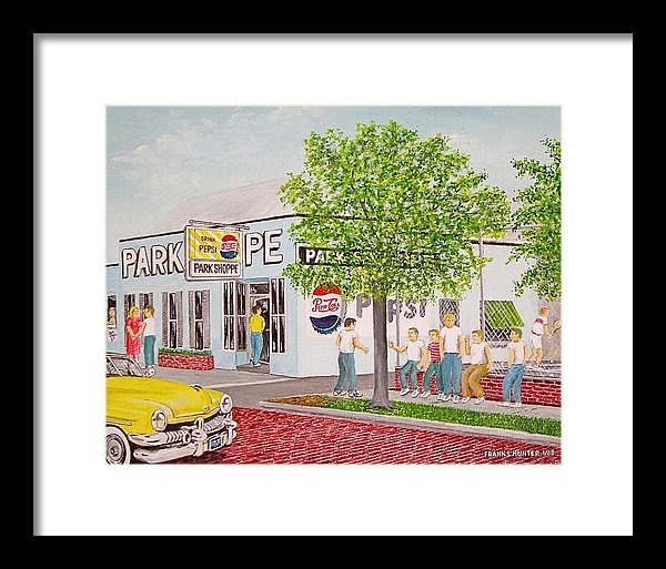 Frank Hunter - The Park Shoppe Portsmout... Print