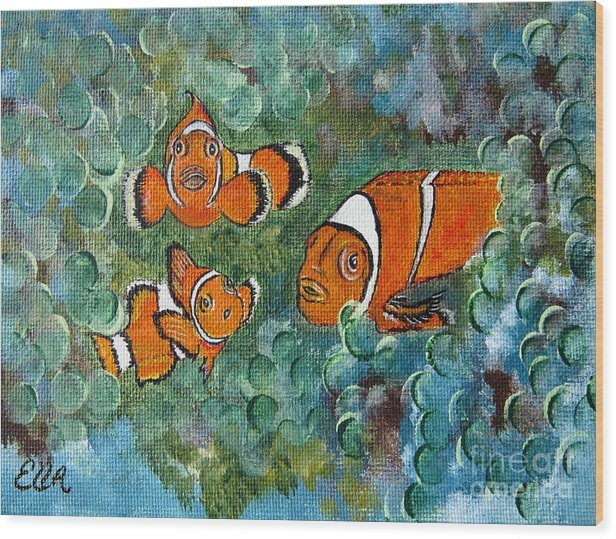 Ella Kaye Dickey - Clown Fish Art original t... Print
