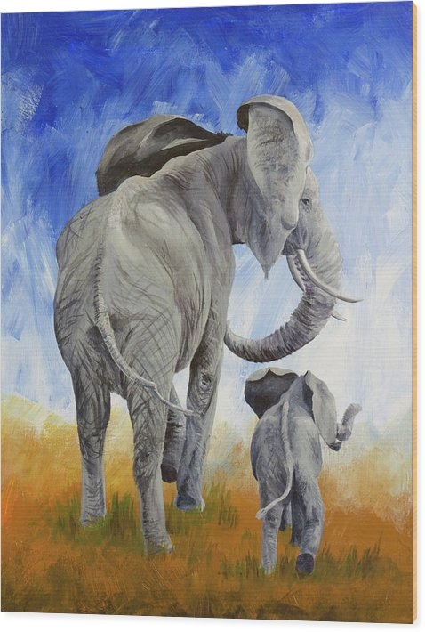 AJ Currado - Elephants Print