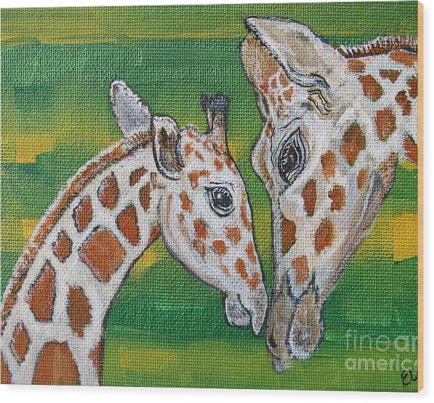 Ella Kaye Dickey - Giraffes Artwork - Learni... Print