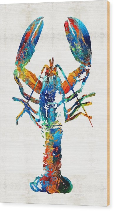 Sharon Cummings - Colorful Lobster Art by S... Print