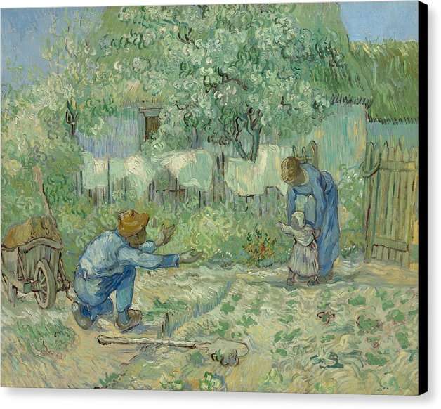 Vincent van Gogh - First Steps, after Millet Print
