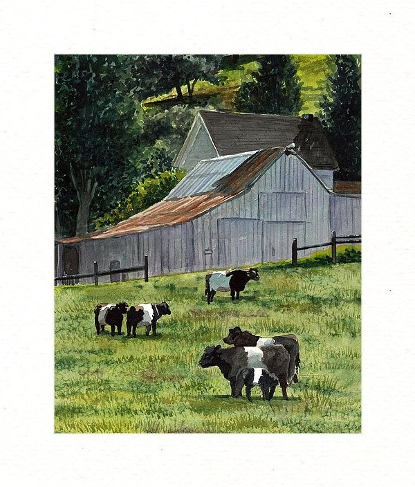 Gail Chandler - Oreo Cows in Napa Print