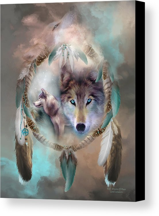 Carol Cavalaris - Wolf - Dreams Of Peace Print
